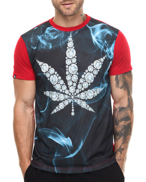Ur-ID 217536 Buyers Picks - Men Red Diamonds & Leafs S/S Tee