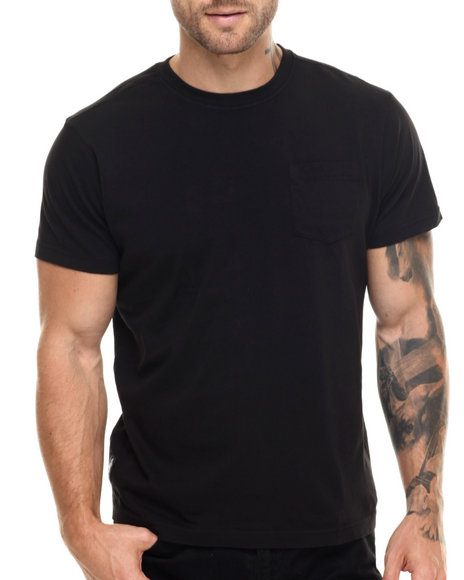 Ur-ID 217538 Winchester - Men Black Mckinley Plain Chest Pocket S/S Tee