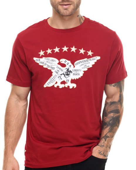Ur-ID 217551 Winchester - Men Red Taft Liberty S/S Tee