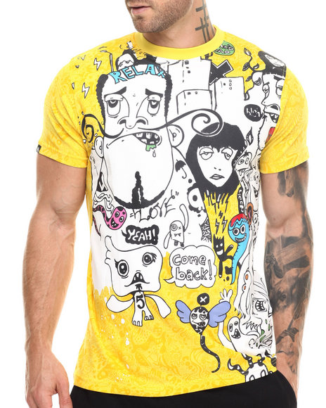 Ur-ID 217504 Buyers Picks - Men Yellow City Spirit S/S Tee