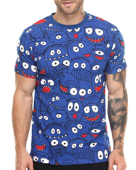 Buyers Picks - Men Blue Staring Faces S/S Tee