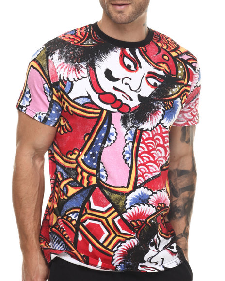 Ur-ID 217543 Buyers Picks - Men Red Shogun Vintage Print  S/S Tee