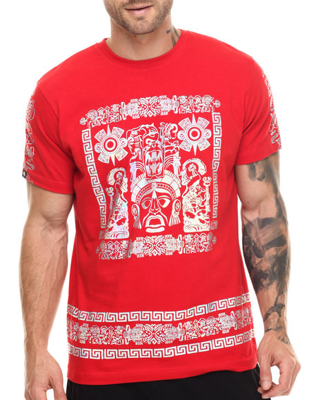 Ur-ID 217544 Buyers Picks - Men Red Mayan Holograms/S Tee