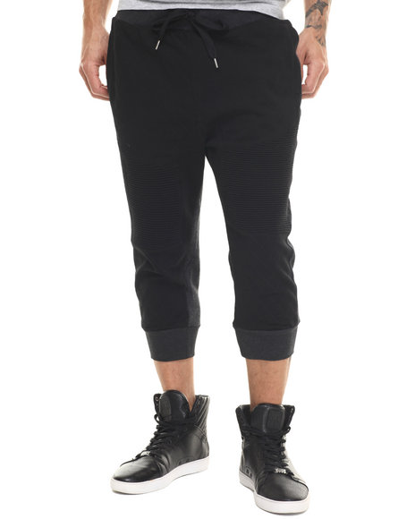 Buyers Picks - Men Black Duo-Tone Sport Jogger Shorts
