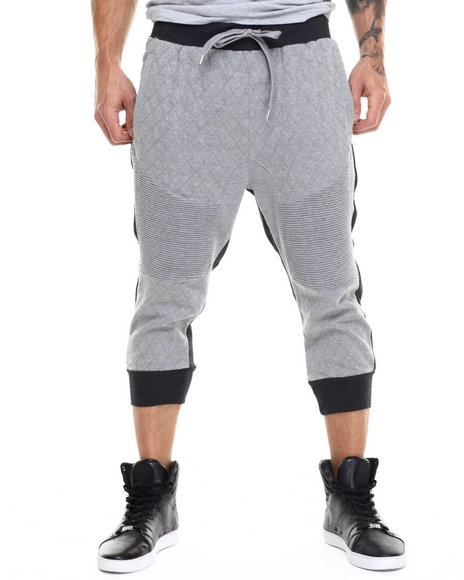 Ur-ID 217495 Buyers Picks - Men Grey Duo-Tone Sport Jogger Shorts