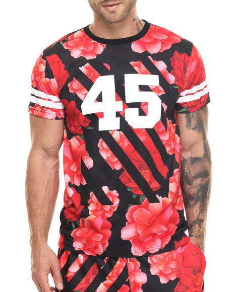 Ur-ID 217535 Buyers Picks - Men Red Bloom 45 S/S Tee