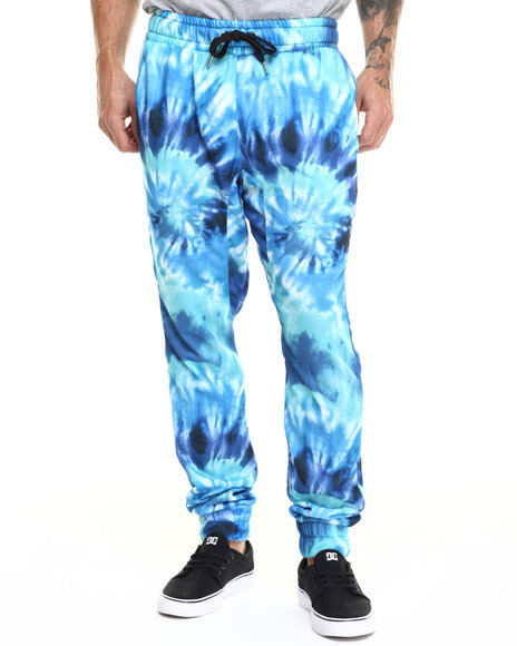 Buyers Picks - Men Blue Tie Dye Joggers