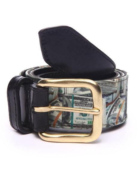 Buyers Picks - Men Green Pradagy Money Stacks Belt (30-44)