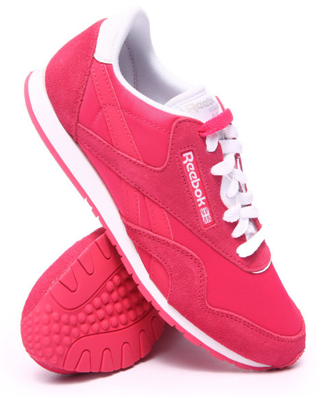 Ur-ID 217558 Reebok - Women Pink Classic Nylon Slim Pigment Sneakers