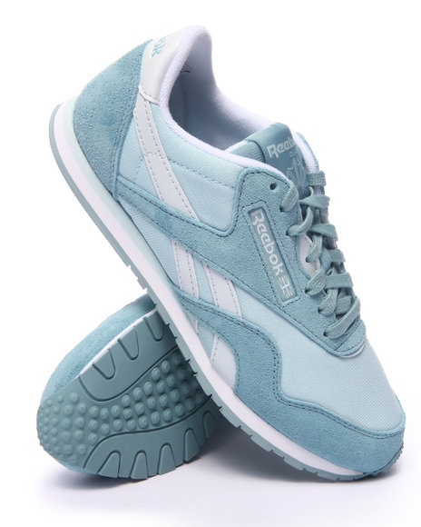 Ur-ID 217564 Reebok - Women Light Blue Classic Nylon Slim Colors Sneakers
