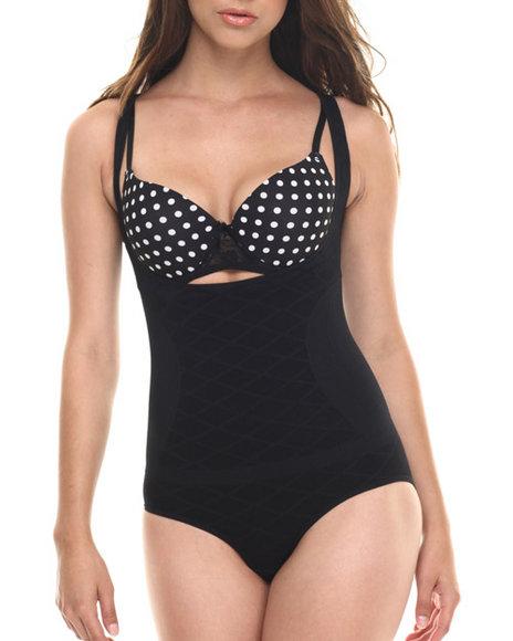 Ur-ID 217571 DRJ Lingerie Shoppe - Women Black Full Body Control Seamless Shapewear Bodysuit