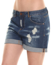 Women - Premium Distressed Boyfriend Short