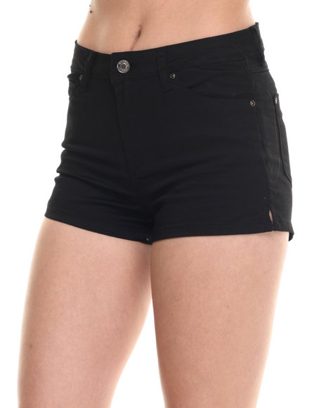 Ur-ID 217593 Bianco Jeans - Women Black Premium Stretch Denim Short