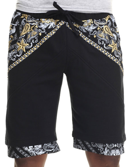 Buyers Picks - Men Black Printed Shorts