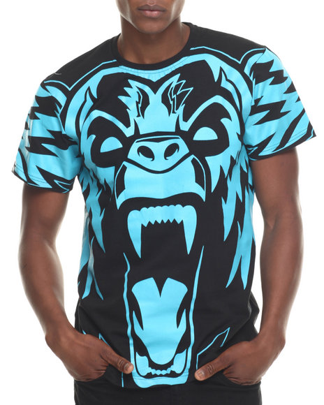 Buyers Picks - Men Blue In Yoface Bear S/S Tee