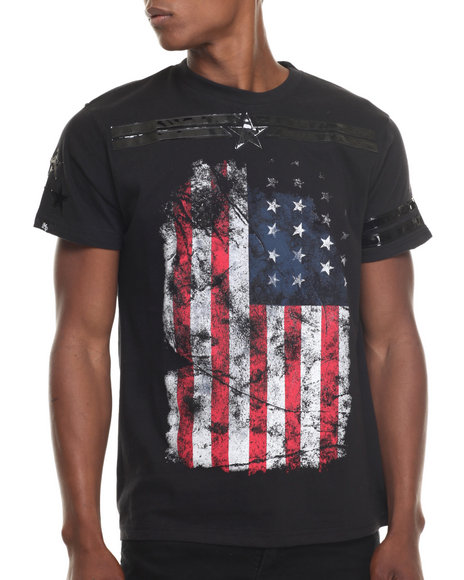 Ur-ID 217640 Buyers Picks - Men Black Vintage Americana S/S Tee