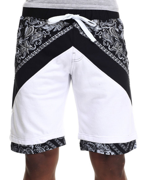 Buyers Picks - Men White Printed Shorts