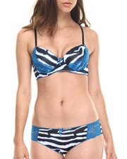 Women - Zebra Ikat Bra Cheeky Short Set