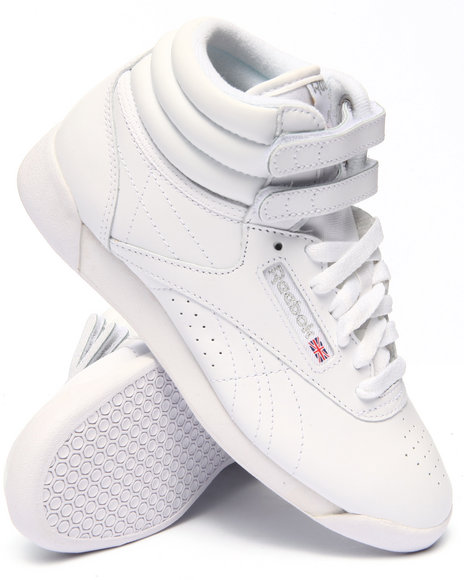 Ur-ID 217588 Reebok - Women White Freestyle Hi Sneakers