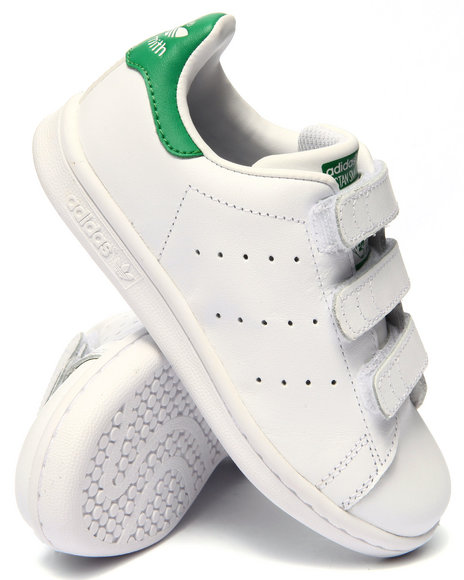 Adidas - Boys White Stan Smith C Sneakers (11-3)
