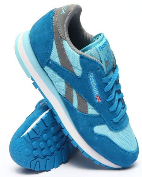 Reebok - Women Blue Cl Seasonal Ii Suede Sneakers