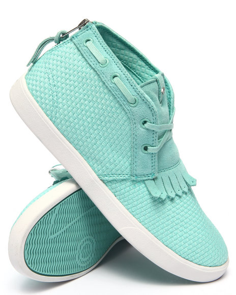 Ur-ID 217670 Diamond Supply Co - Men Teal Jasper Diamond Blue Woven Sneakers