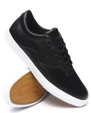 Footwear - Lafayette Black Leather Sneakers