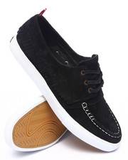 The Skate Shop - Yacht Club Black Suede Sneakers