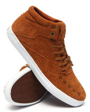 The Skate Shop - Folk Mid Light Brown Suede Sneakers