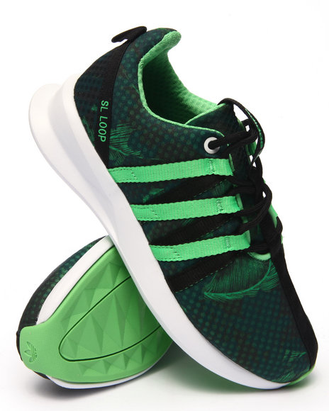 Ur-ID 217674 Adidas - Women Black,Green Sl Loop Racer W Sneakers