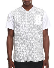 Buyers Picks - Geometric print enamel trim s/s tee