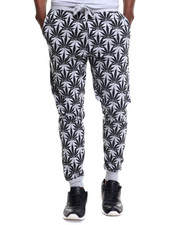 Men - Plant Life Allover Print Jogger Pants