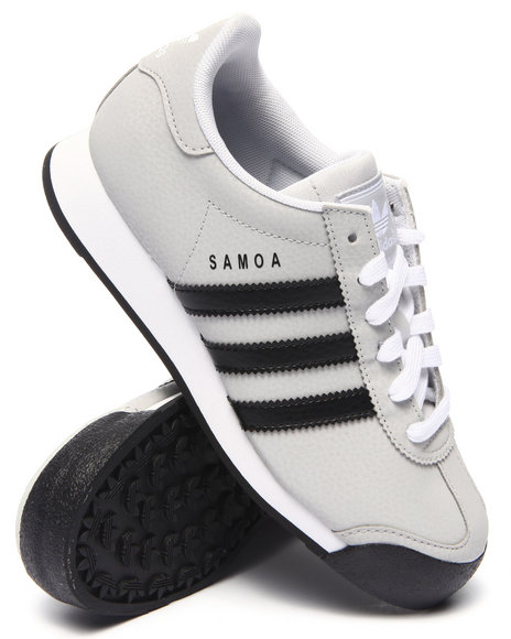 Adidas - Boys Grey Samoa J Sneakers (3.5-7)