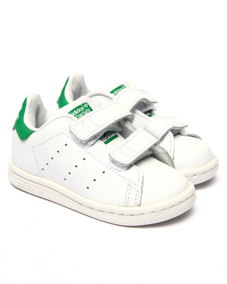 Adidas - Boys White Stan Smith Inf Sneakers (5-10) - $45.00