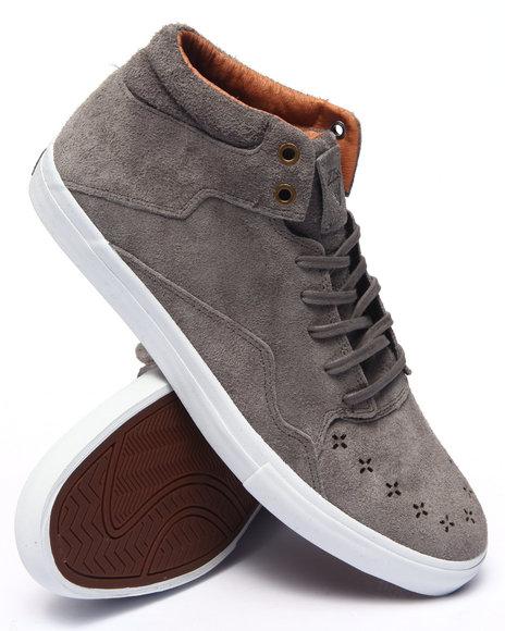 Ur-ID 217704 Diamond Supply Co - Men Grey Folk Mid Light Grey Suede Sneakers