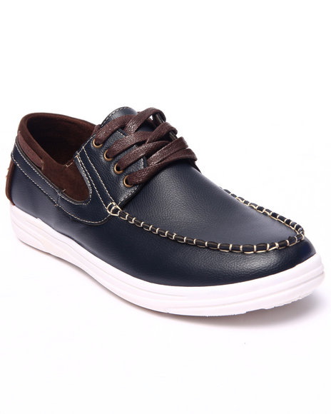 Buyers Picks - Men Navy Andrew 2-Tone Boat Shoe