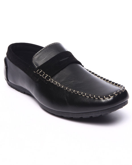 Buyers Picks - Men Black Patrick 2-Tone Sport Loafer