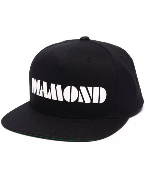Diamond Supply Co Men Track Snapback Cap Black