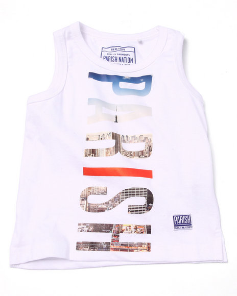 Parish - Boys White Logo Tank (2T-4T)