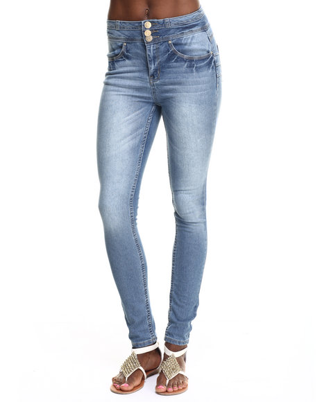 Basic Essentials - Women Light Wash Rebel By Right High Waist Skinny Jean - $15.99