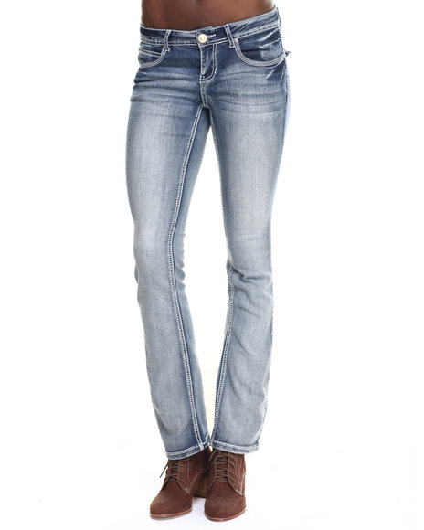 Ur-ID 217733 Basic Essentials - Women Light Wash Rebel By Right Slim Boot Jean