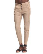 Bottoms - Premium Stretch Linen Boyfriend Skinny Pant