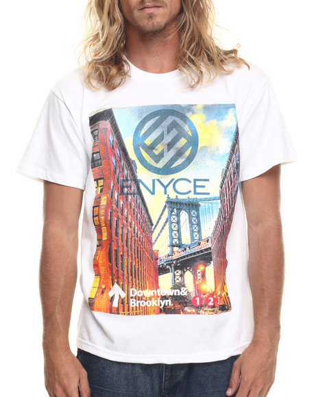 Enyce - Men White Brooklyn T-Shirt - $14.99