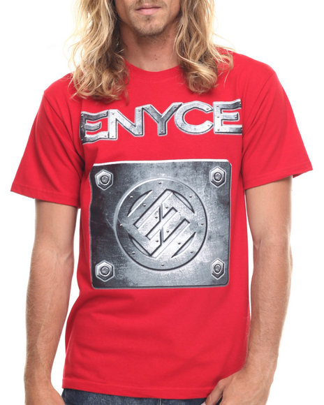 Ur-ID 217745 Enyce - Men Red Metal Logo T-Shirt