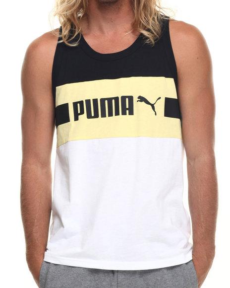 Ur-ID 217751 Puma - Men White Signature Stripe Tank