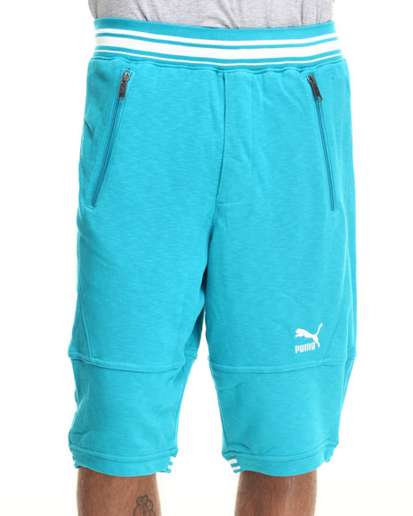 Ur-ID 217780 Puma - Men Teal Progressive Fleece Shorts