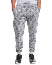 Jeans & Pants - Paisley Allover Print Jogger Pants