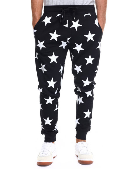 Ur-ID 217689 Buyers Picks - Men Black Starz N Stuff Jogger Pants