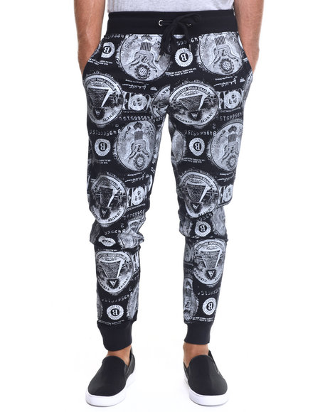 Ur-ID 217697 Buyers Picks - Men Black Ca$H Money Drawstring Jogger Pants