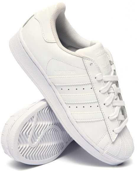 Adidas Boys Superstar J Sneakers (3.57) White 7 Youth